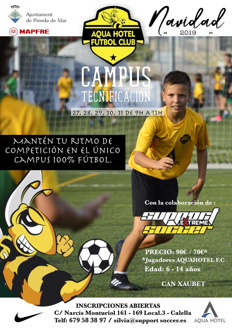 CARTEL-CAMPUS-NAVIDAD-SUPPORT-SOCCER-EXTREME-2019